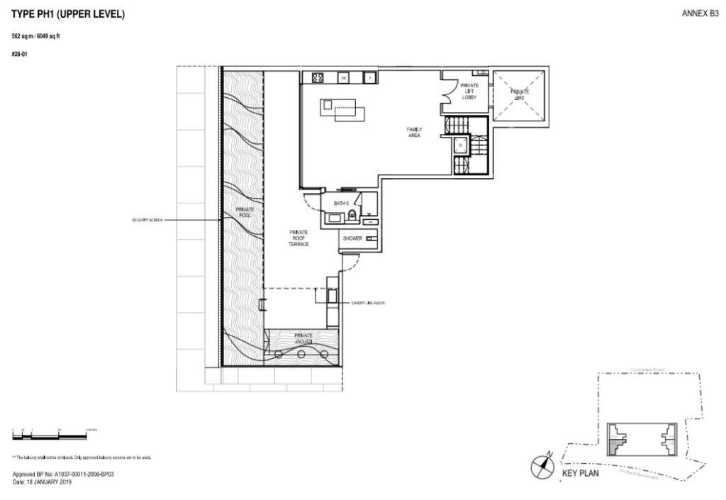 Boulevard 88 Floor plan Penthouse